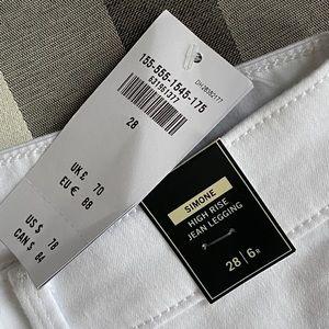 Brand New White Abercrombie Skinny Jeans